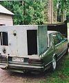 BMW 728 1978 года с тканевым фильтром. После оборудования газогенератором работал только на древесном газе.