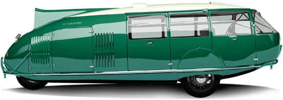 Dymaxion был вдвое длиннее обычного автомобиля - 6,1 м в длину