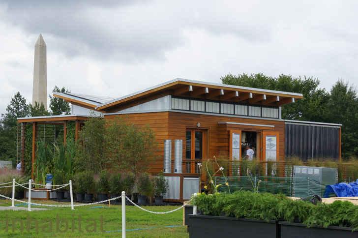 Крыша в форме крыльев бабочки собирает солнечный свет и дождевую воду