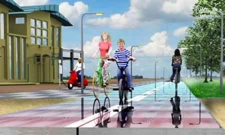 Солнечные велосипедные дорожки