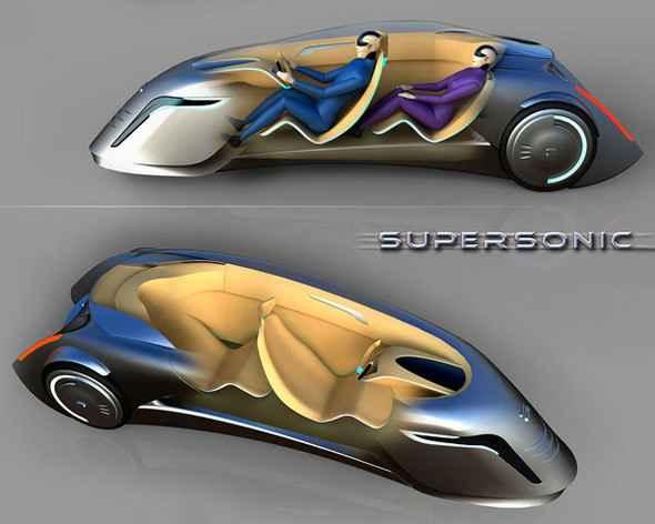 В Supersonic пассажирское место расположено за водительским
