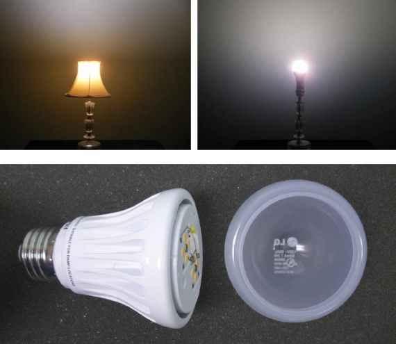 Привычная нам конструкция настольной лампы и светодиодная лампа для замены