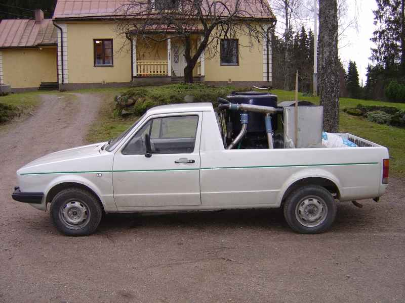 Газогенераторная установка на Volkswagen Caddy с двигателем 1,8 л, ручная 5-и ступенчатая коробкой передач