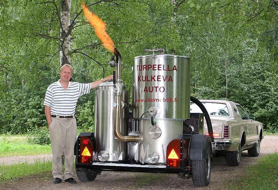 Vesa Mikkonen и его газогенераторный Lincoln Mark V