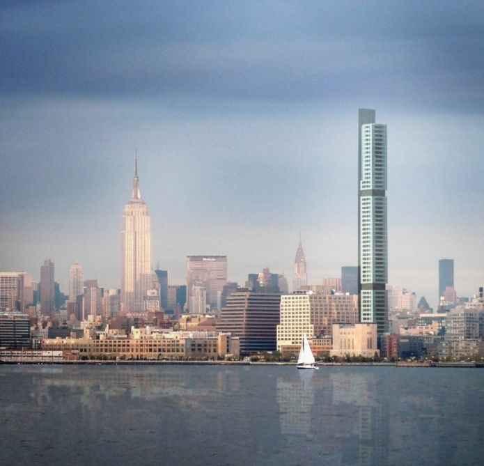 «Эко-башня» с двумя парами апартаментов на каждом этаже с которых откроется незабываемый вид
