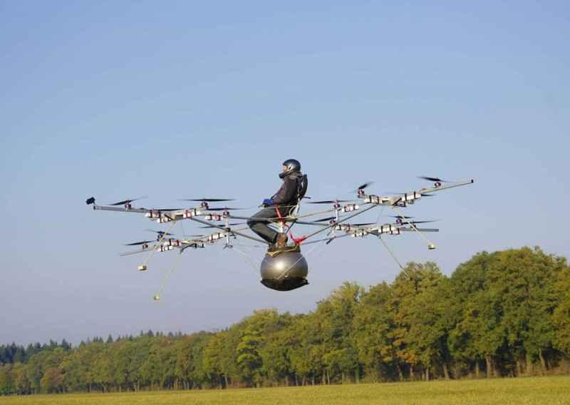 Мультикоптер в полете