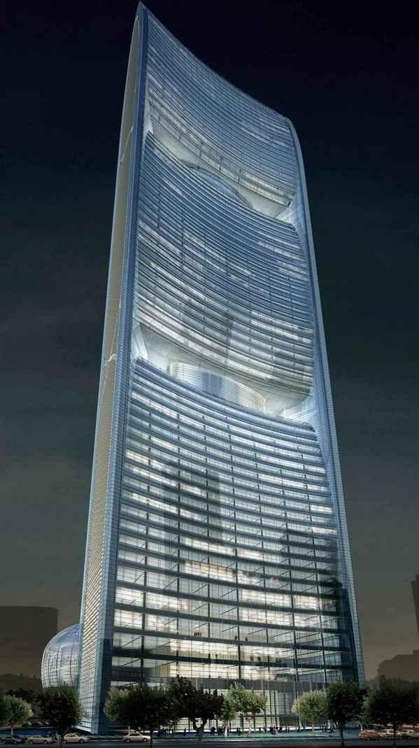 Один из крупнейших автономным домом в мире - «Башня Жемчужной реки» в Гуанчжоу