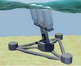 Преобразование движения качающихся на волнах элементов в электричество