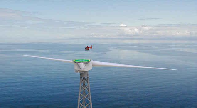 Ветрогенератор с вертолетной площадкой