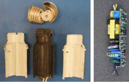 Цоколь и схема питания светодиодной лампы